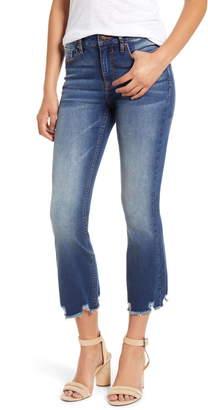 Vigoss Gwen Distressed Hem Crop Flare Jeans