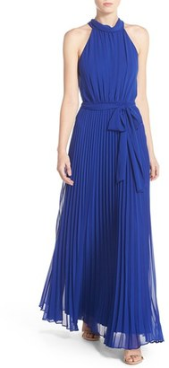 Women's Eliza J Pleated Chiffon Maxi Dress $158 thestylecure.com