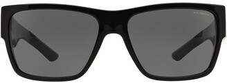 Versace Eyewear square cornici plaque sunglasses