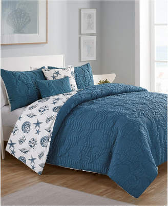 Vcny Home Beach Island 5-Pc. King Reversible Comforter Set Bedding