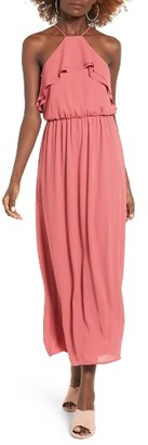 Women's Lush Ruffle Maxi Dress $55 thestylecure.com