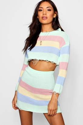 boohoo Knitted Pastel Co-ord Set