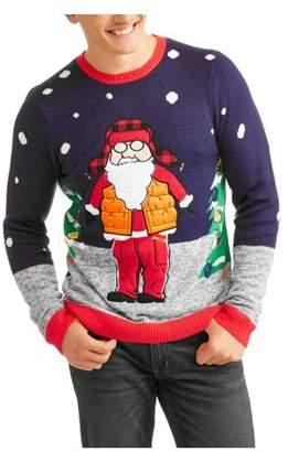 Santa Nylon Vest Men's Ugly Christmas Sweater