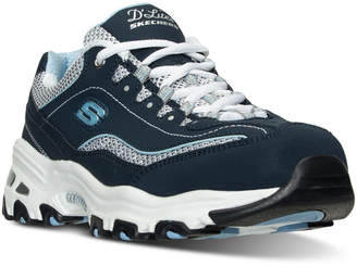 Skechers Women D'Lites - Life Saver Wide Width Running Sneakers from Finish Line