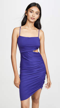 Susana Monaco Thin Strap Gathered Cutout Dress