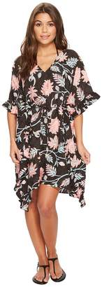 Seafolly Bali Hai Ruffle Kaftan Cover-Up Women's Swimwear