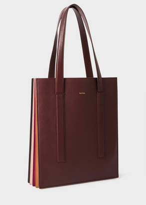 Paul Smith Women's Burgundy 'Concertina' Tote Bag