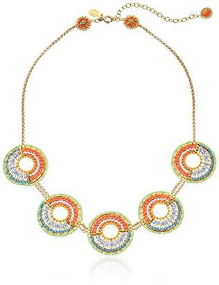 Miguel Ases Beaded Circle Necklace