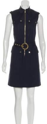 Michael Kors Sleeveless Zip-Up Dress Navy Sleeveless Zip-Up Dress