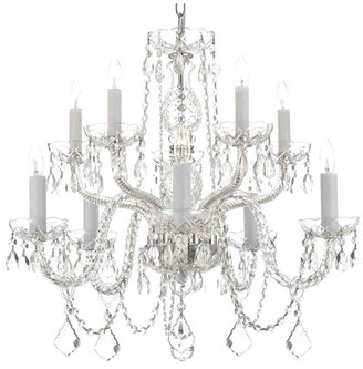 Harrison Lane 10-Light Crystal Chandelier $327 thestylecure.com