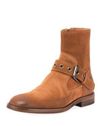 Maison Margiela Men's Suede Monk Buckle Boot