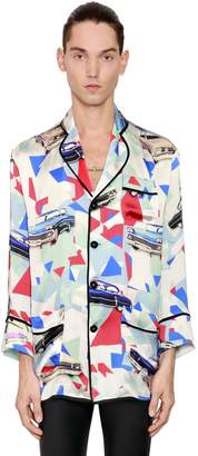 Viscose & Silk Satin Pajama Shirt