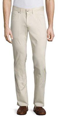 Peter Millar Collection Perfect Poplin 5-Pocket Pants, Khaki $248 thestylecure.com