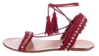 Aquazzura Suede Wrap Around Sandals