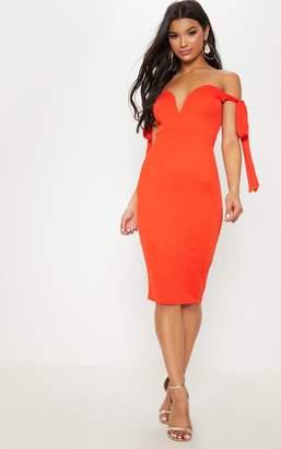 Bright Orange Dress