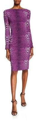 Chiara Boni Darsey Leopard-Print Cocktail Dress