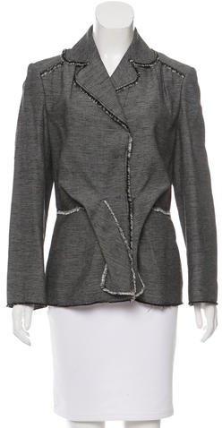Alberta FerrettiAlberta Ferretti Tweed Fringe-Trimmed Blazer