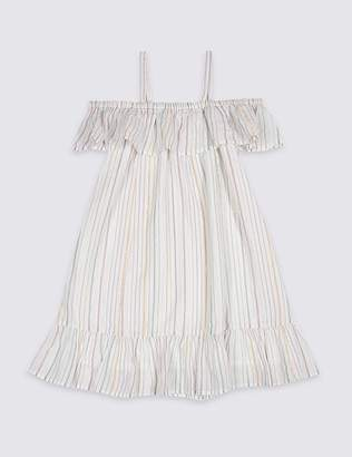 Marks and Spencer Striped Bardot Dress (3-16 Years)