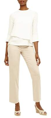 Phase Eight Madi Button Trousers, Stone