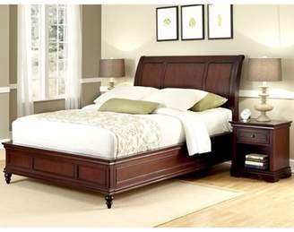 Lafayette Home Styles Queen Sleigh Bed and Night Stand, Rich Cherry