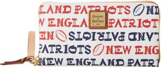 Dooney & Bourke NFL Patriots Large Zip Around Wristlet