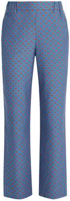 Muveil Lip-print straight-leg trousers