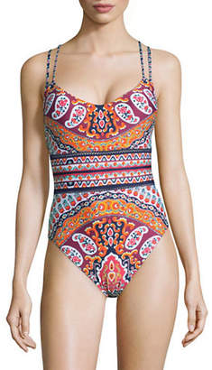 Nanette Lepore Goddess Strappy One-Piece Swimsuit