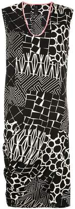 Zero Maria Cornejo asymmetric all-over print dress