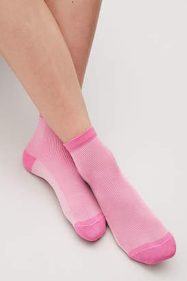 Cos TONAL RIBBED ANKLE SOCKS