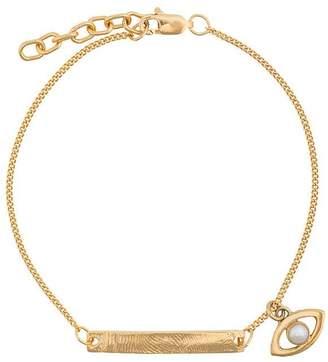 Cornelia Webb gold metallic slized chakra small sterling silver bracelet