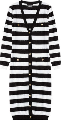 Moschino Cotton Striped Long Cardigan