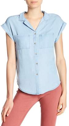 Cotton On & Co. Emily Cap Sleeve Button Down Shirt
