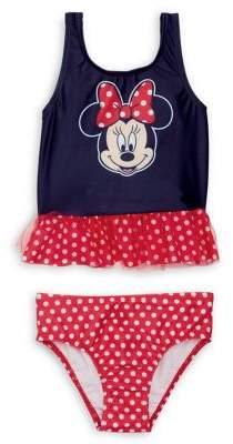 Dream Apparel Little Girl's 2-Piece Minnie Mouse Bikini Set