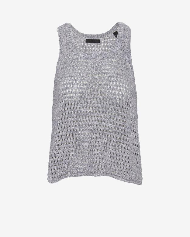 ATM Crochet Knit Swing Tank