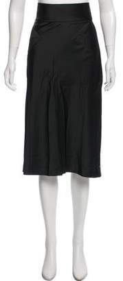 Alberta Ferretti Satin Midi Skirt