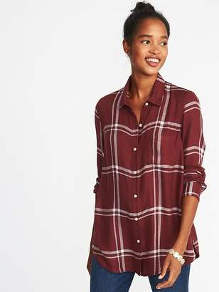Old Navy Relaxed Classic Soft-Brushed Twill Shirt for Women