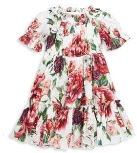 Dolce & Gabbana Little Girl's& Girl's Floral Cotton Dress