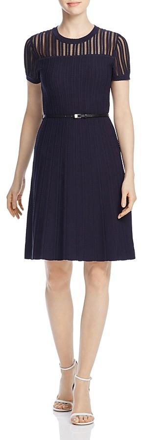 Calvin KleinCalvin Klein Belted Sweater Dress