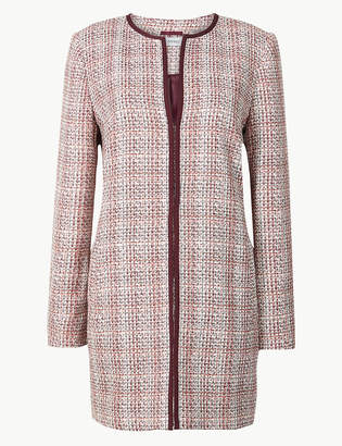 Marks and Spencer Textured Tweed Coat