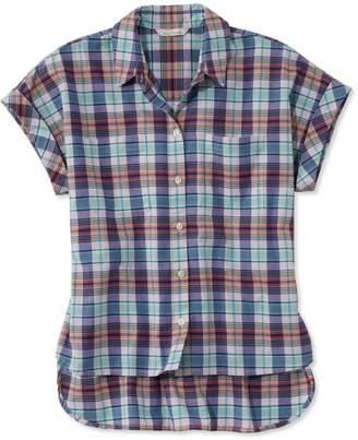 L.L. Bean L.L.Bean Signature Madras Shirt, Short-Sleeve