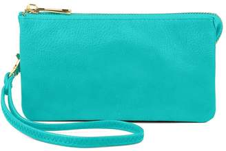 Riah Fashion Vegan Leather Wristlet