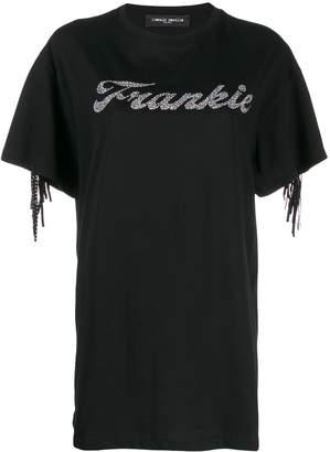 Frankie Morello fringe detail T-shirt