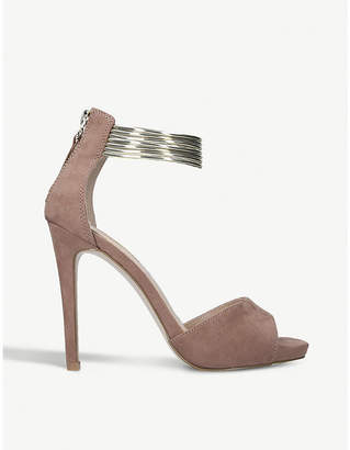 Miss KG Fiona suedette bangle-strap sandals
