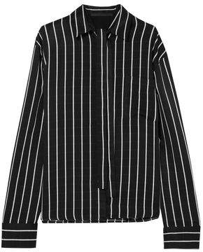 Haider Ackermann Striped Matte-Satin Shirt