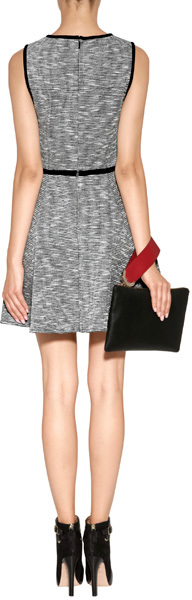 Anya Hindmarch Leather Seymour Clutch in Black/Red