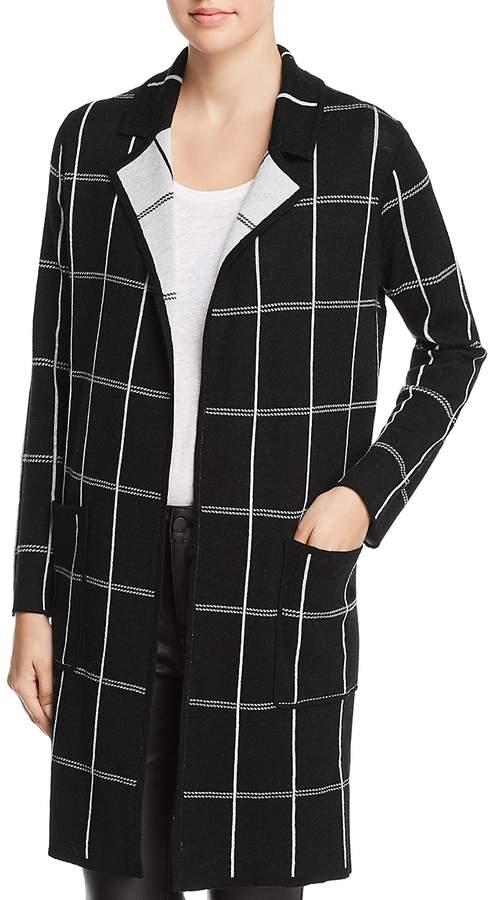 Reversible Windowpane Sweater Coat