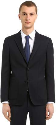 Ermenegildo Zegna Techmerino Wash'n Go Woven Wool Jacket