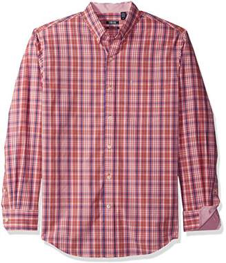 Izod Men's Essential Check Long Sleeve Shirt (Regular & Slim Fit)