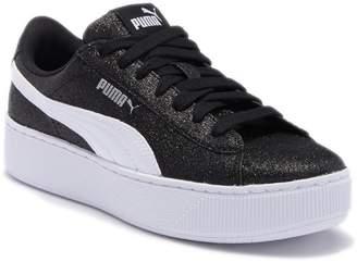 Puma Vikky Platform Glitz Platform Sneaker (Big Kid)