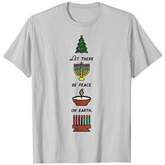 Peace on Earth Shirt : Multicultural Holiday Diversity Shirt